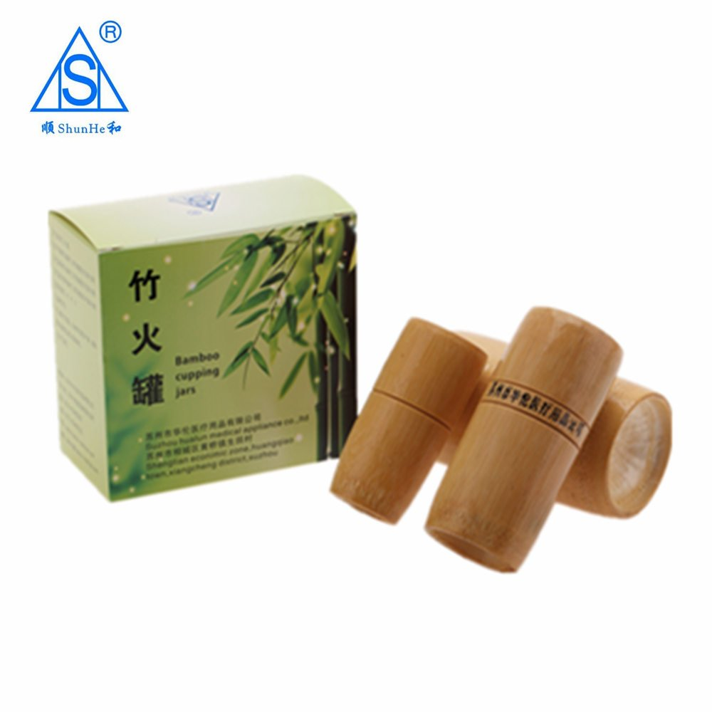 Bamboo Cupping Jar 3pcs/set in A Box