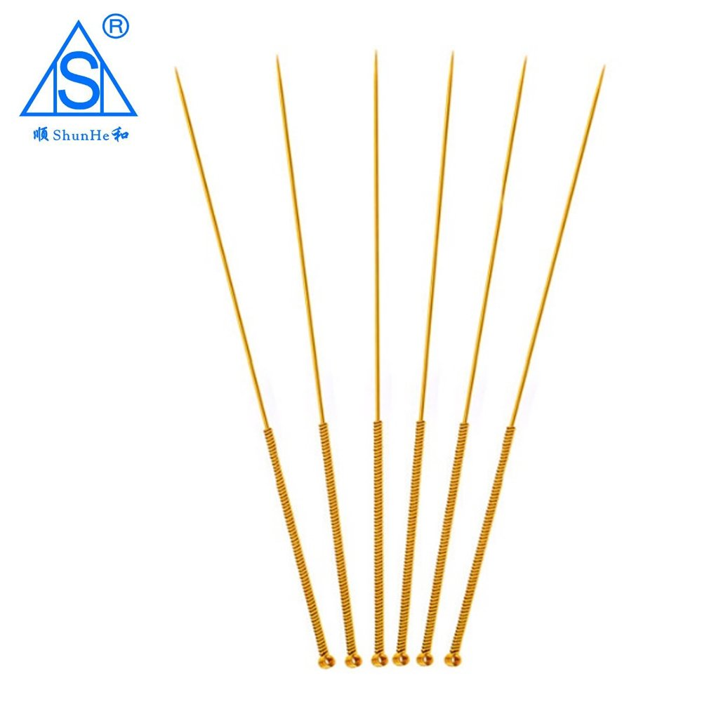 Gold Plated Acupuncture Needle with Tube Dialysis Paper Package 100pcs/box