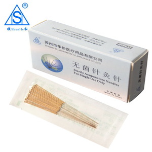 Sterile Disposable Gold Plated Acupuncture Needles for Back Pain